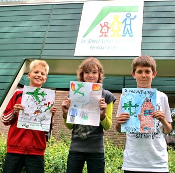 De winnaars van de tekenwedstrijd 2012