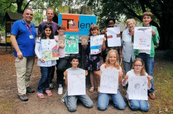 De winnaars van de Airborne tekenwedstrijd 2011