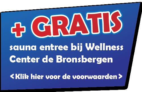 + GRATIS sauna entree bij Wellness Center de Bronsbergen